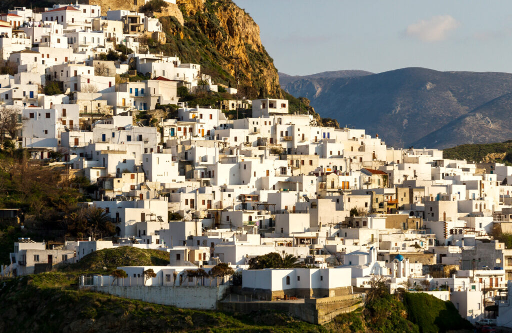View of Chora in Skyros island, Greece