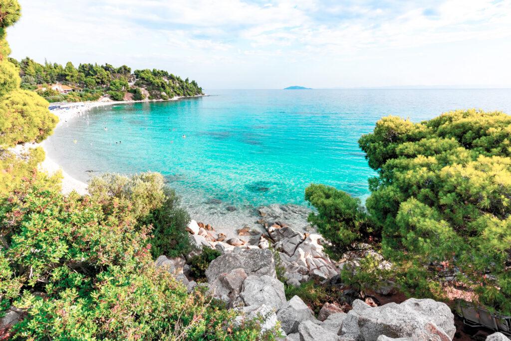 Akti Koviou beach in Sithonia peninsula, Chalkidiki, Greece