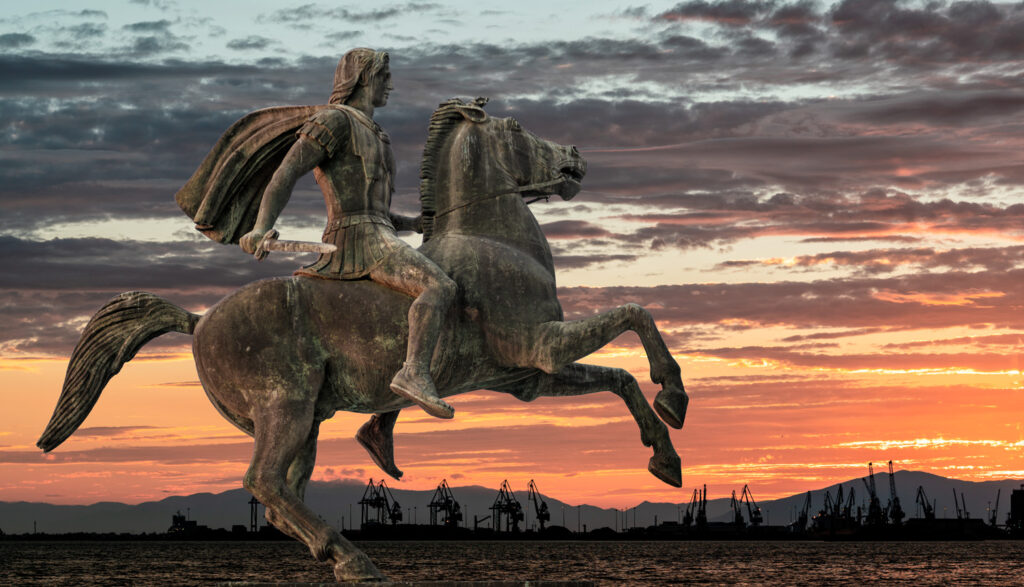 Statue of Alexander The Great at Thessaloniki waterfront, Greece