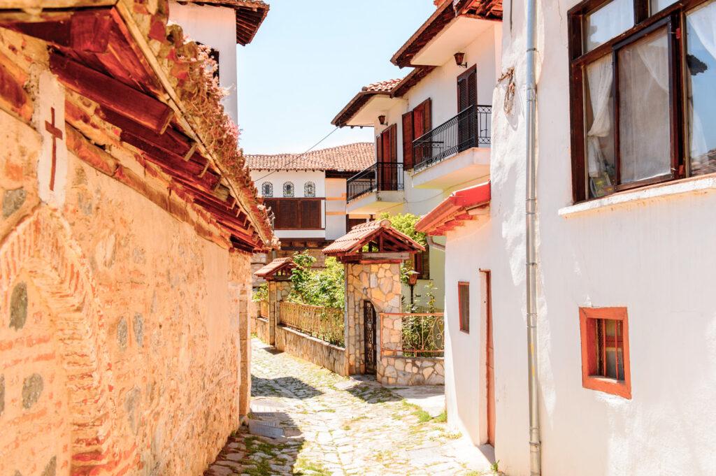 Architecture of Kastoria, West Macedonia, Greece