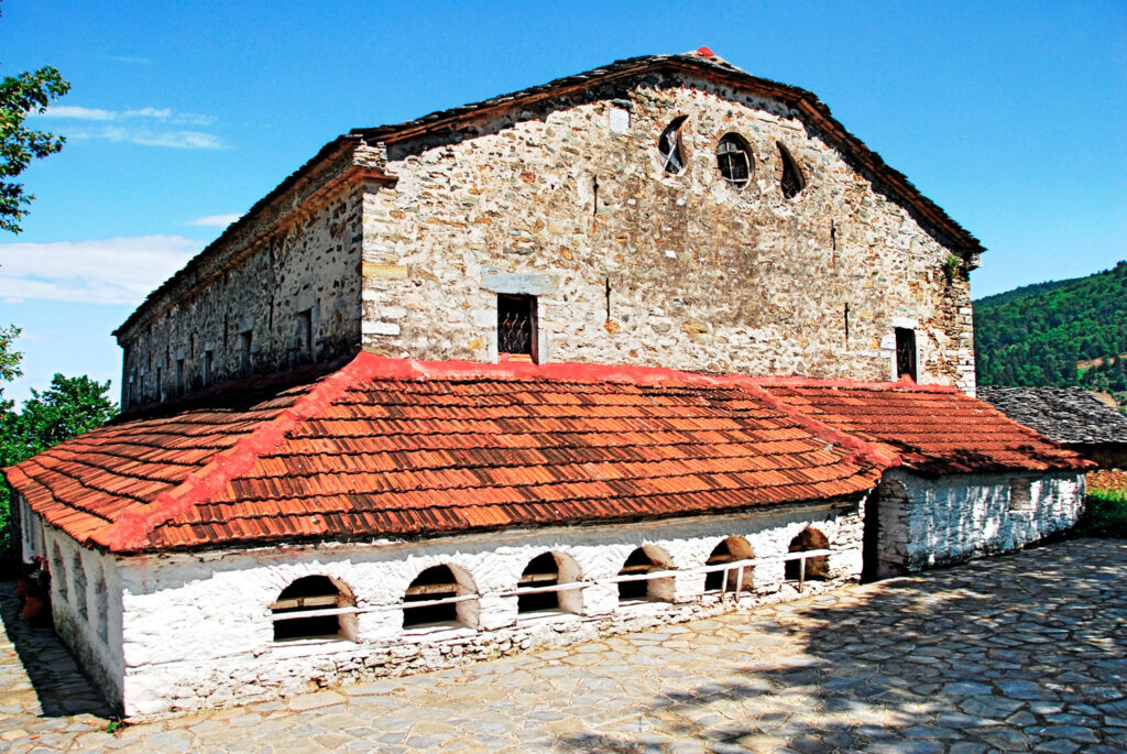 Christian Orthodox church of Assumption of Holy Mary, Ano Skotina village on Olympus mountain, Pieria prefecture, central Macedonia, Greece.