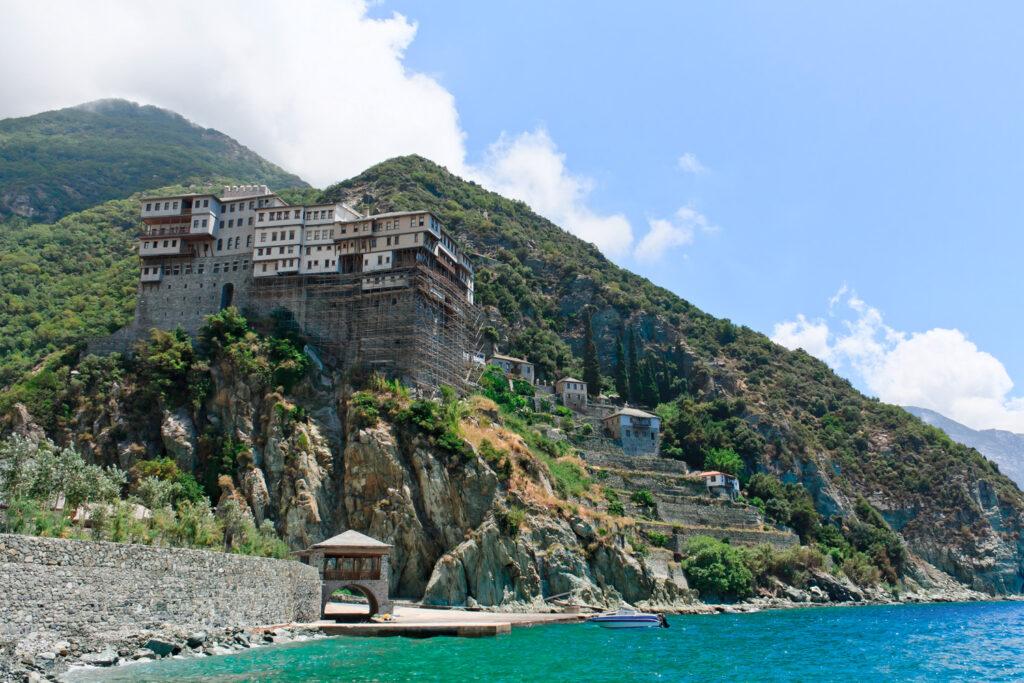 Dionisiou Monastery at Mount Athos, Halkidiki, Greece