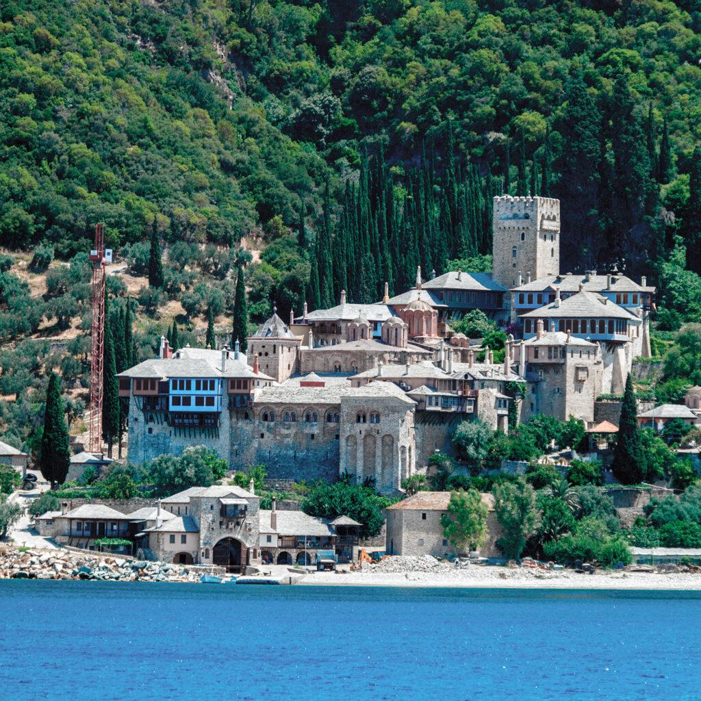 Dochiariou Monastery, Athos Peninsula, Mount Athos, Chalkidiki, Greece