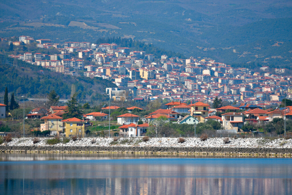 Landscape with panoramic view of Veria a historic town of Central Macedonia in Greece.