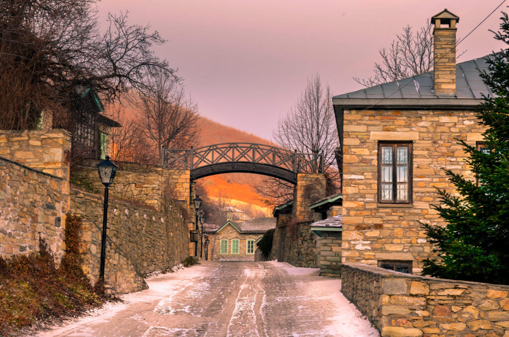 Nymfaio is a picturesque traditional village of Greece and a very popular winter destination. Arcturos organisation which protects brown bears was founded there and provides shelter for wounded bears. Macedonia Greece
