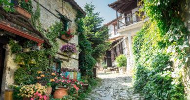 Palaios Panteleimonas, traditional greek village in Pieria region, near Olympus mountain, Pieria, Macedonia Greece
