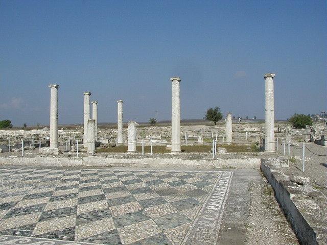 Pella House atrium, archaeological site in Macedonia Grece