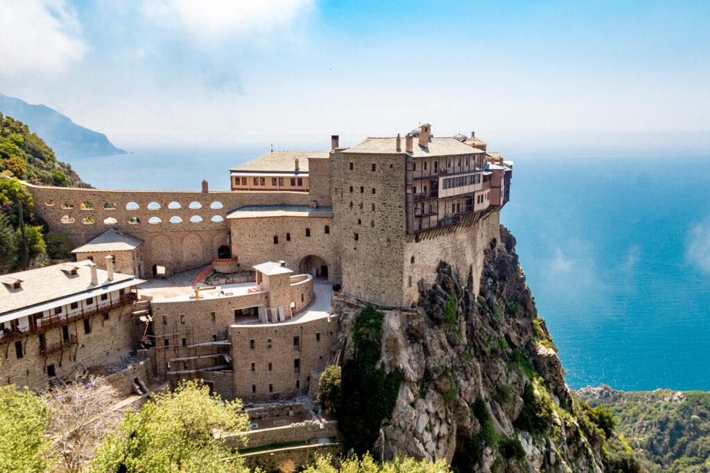 Simonopetra monastery on the Mount Athos, Agios Oros, Chalkidiki, Greece