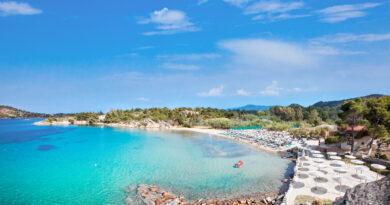 Beautiful Talgo beach on the east coast of Sithonia peninsula, Halkidiki, Greece.