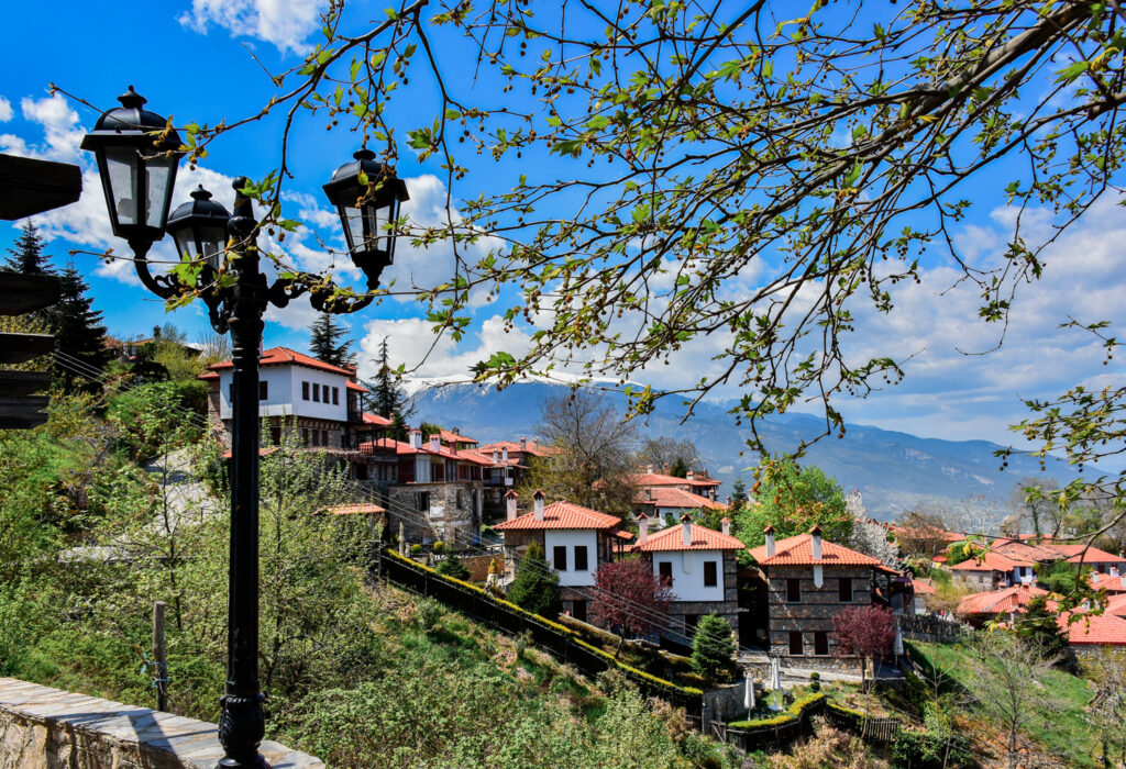 Palaios Panteleiomonas, tourist attraction in Greece. Leptokaria travel destination in east Macedonia.