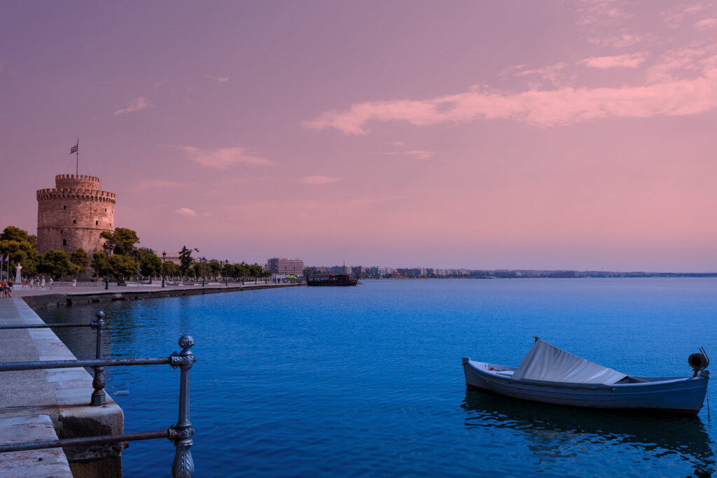 The white tower, Thessaloniki City, Macedonia Greece