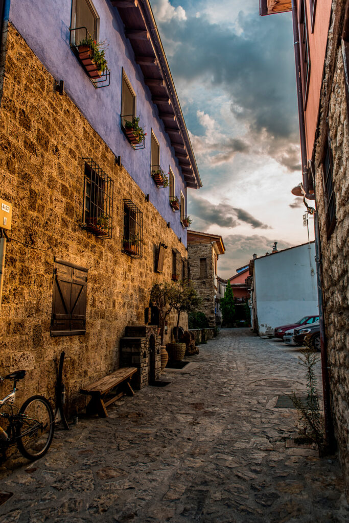 Varosi area, the traditional old town of Edessa city, in Macedonia, Greece