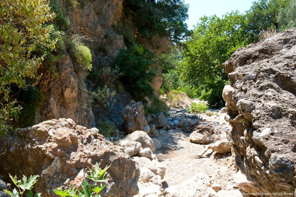 Agia Irini gorge exit at Sougia, southern Crete, Greece