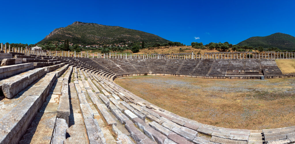 Ancient Greece. Messene. The Stadium and Gymnasium - Heroon