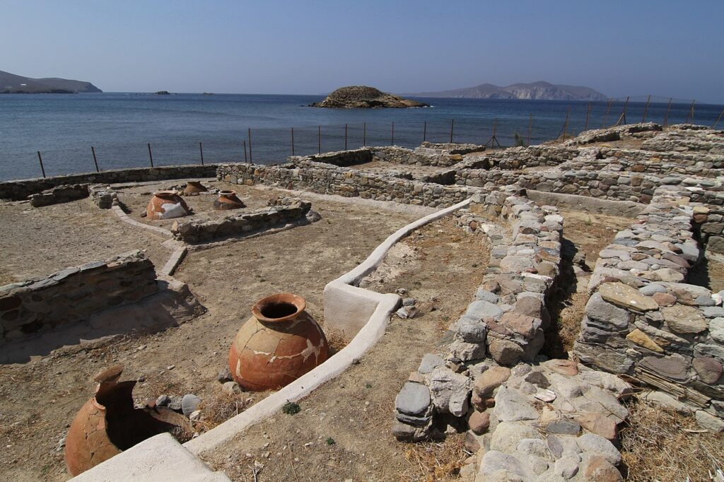 Archaeological site of Arxondiki in Psara island, North Aegean Sea, Greece - photo by Flioukas