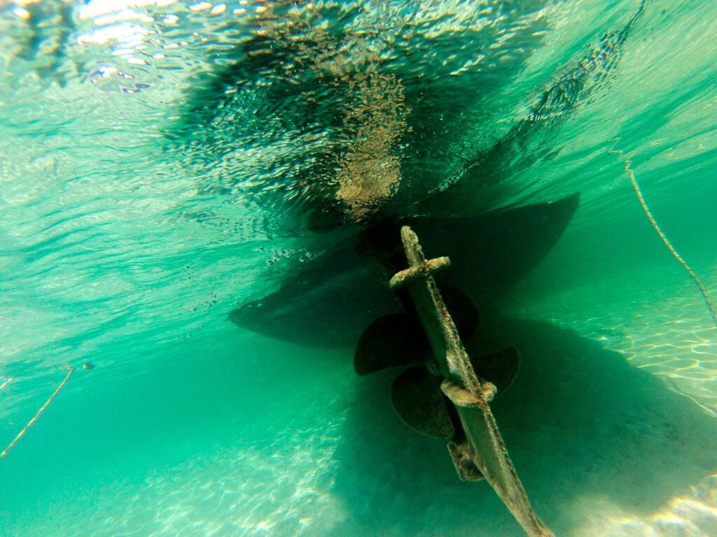 Elafonisi beach - Boat underwater, Crete Greece