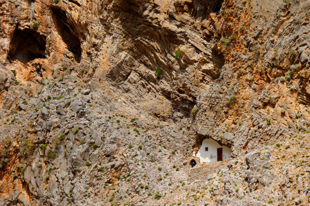 The Samaria Gorge - National Park of Greece on the island of Crete