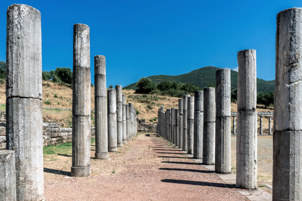 The ancient city of Messini in Peloponnese, Greece