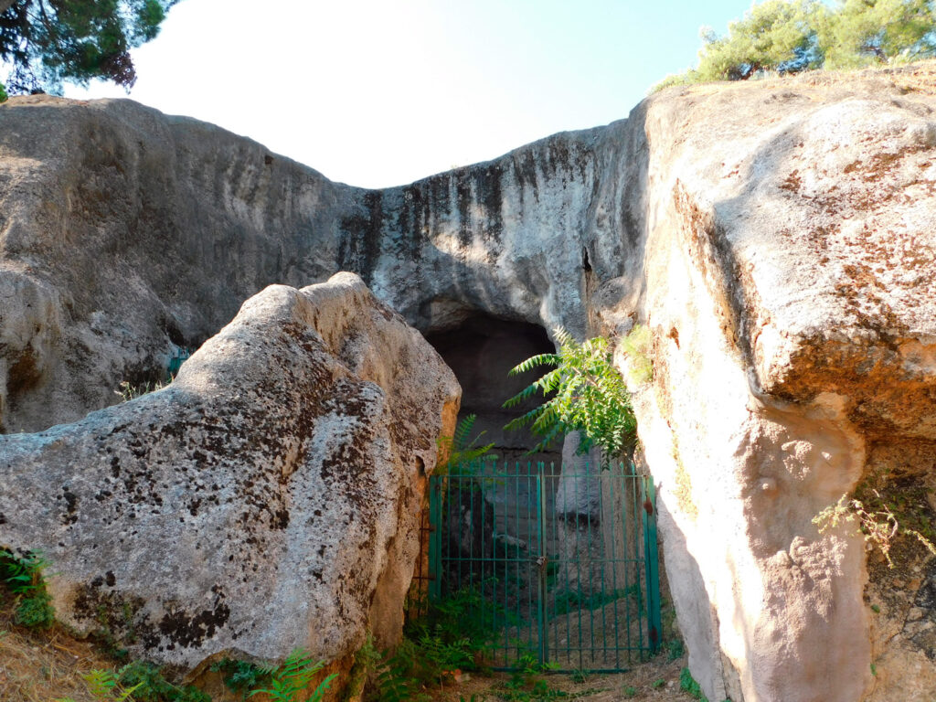 The ancient tombs of Oedipus sons, at Thiva, or Thebes, in Greece