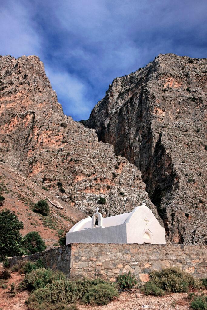 The entrance of the imposing Ha canyon, close to Ierapetra town, Lasithi prefecture, Crete, Greece