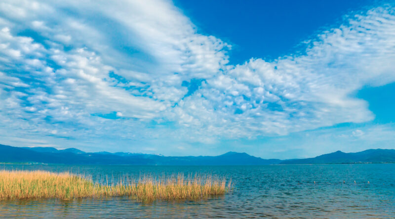 Trichonida lake, the largest natural lake in Greece. It is situated in the eastern part of Aetolia-Acarnania, southeast of the city of Agrinio and northwest of Nafpaktos