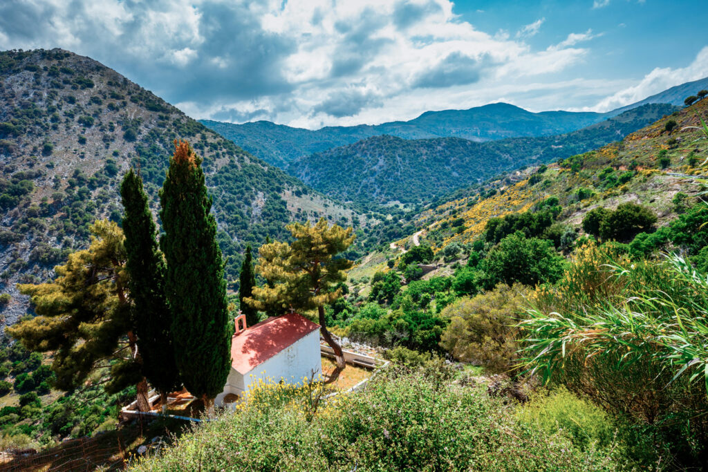 View of Lasithi Plateau in Crete, Greece