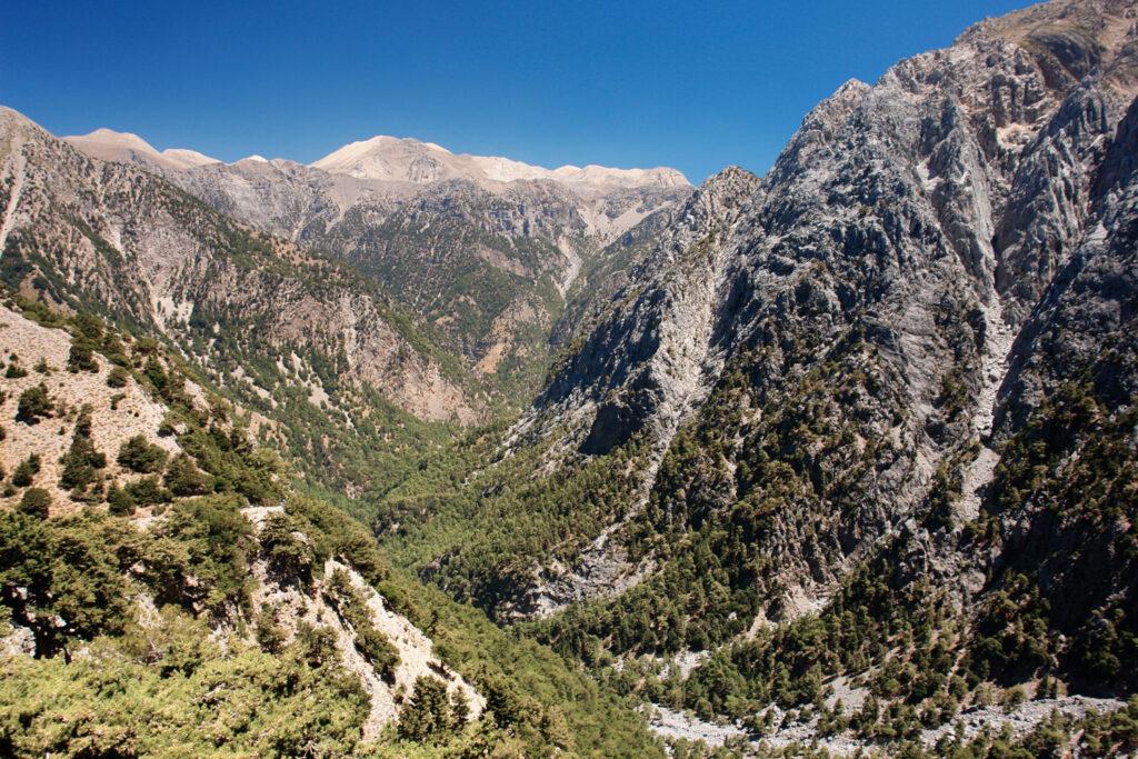 View of the Samaria Gorge, Crete