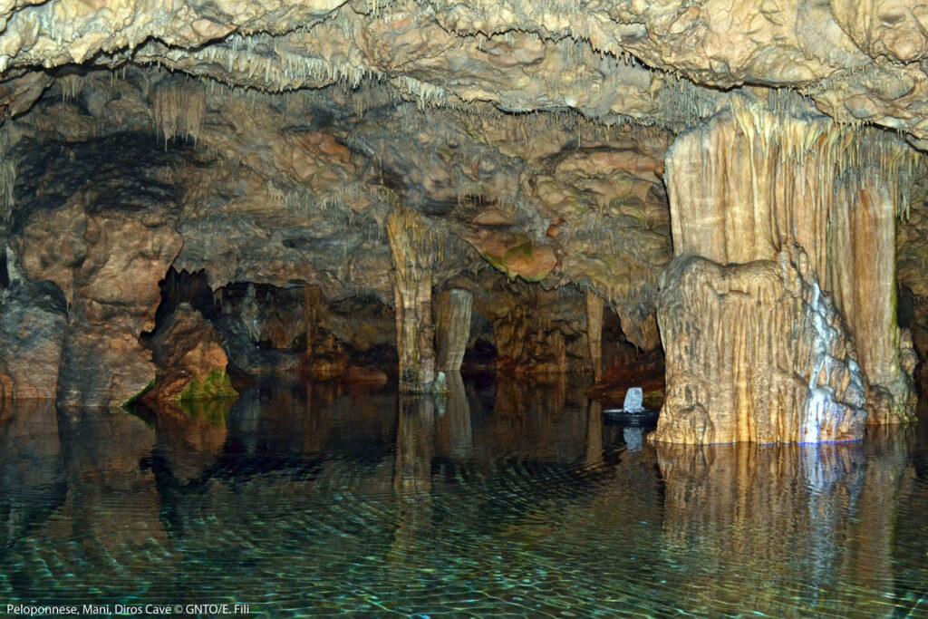 Diros Caves in Mani Peloponnese, Greece - photo by E. Fili