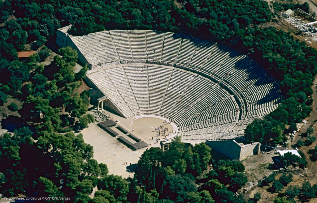 Aerial view of Epidaurus theatre - Photo by Vergas