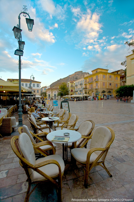 Syntagma square in Naplio, the old capital of Greece - Photo by G. Filippini