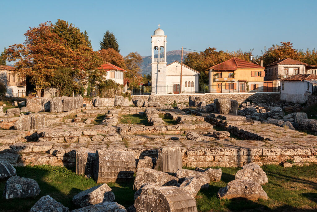 Ruins of the ancient city of Tegea, Peloponnese, Greece