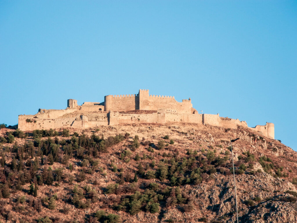 The castle on Larissa Hill, located near the town of Argos, Greece.