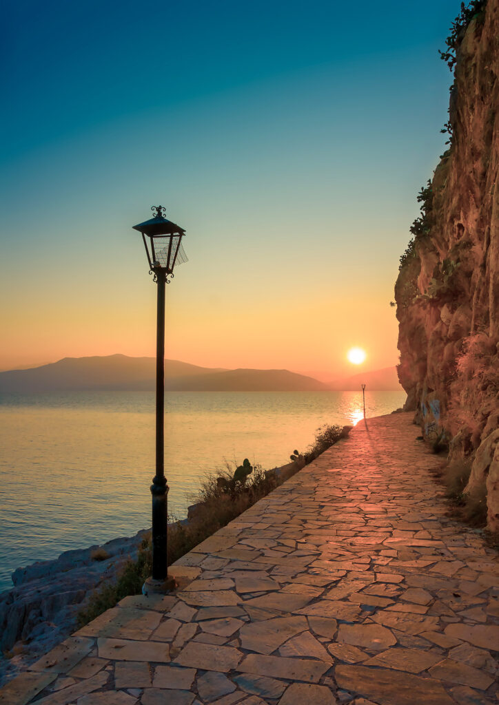 View of Nafplio port in Greece