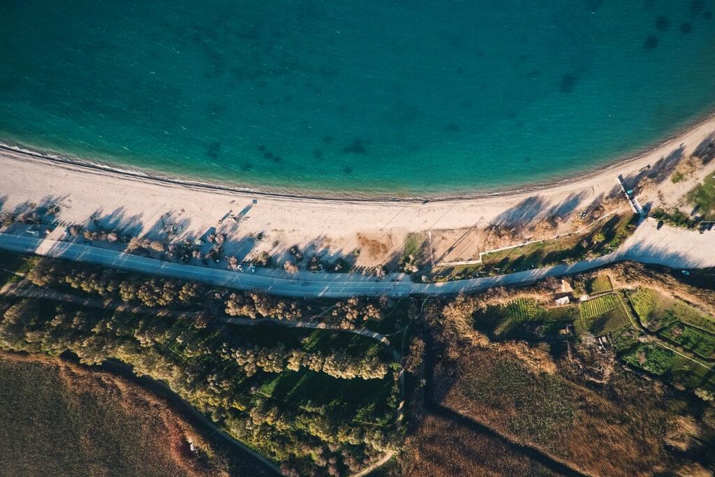 Aerial view of Patras beach, Peloponnese Greece - Photo Angelo Pantazis