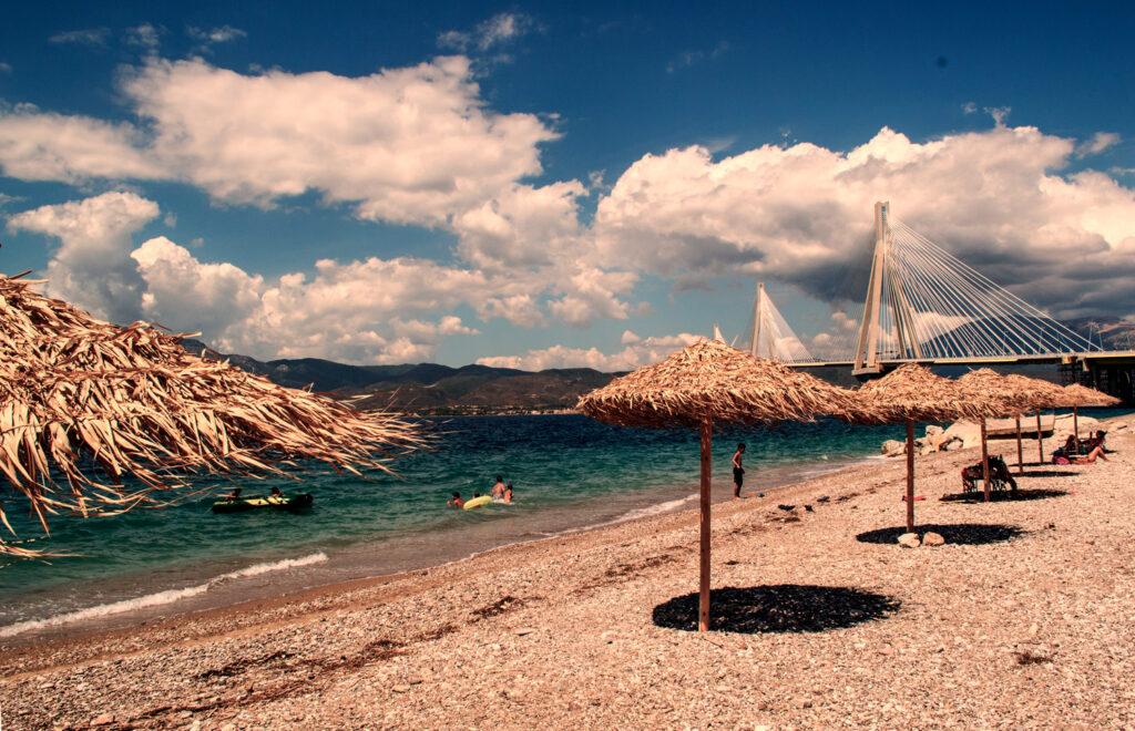 Beach in Patras, Peloponnese, Western Greece