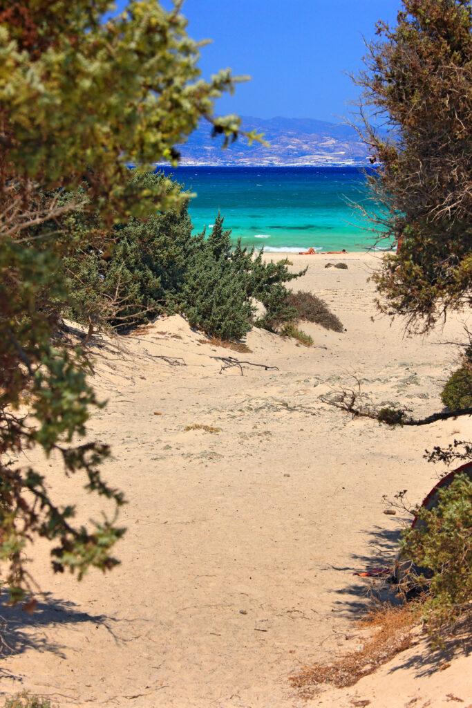 "Beach in Chrissi,Island, (also known as,""gaidouronissi""), Ierapetra, Lasithi Crete, Greece"