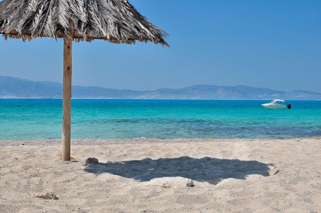 Chrysi island golden sand beach, Southern Crete, Greece