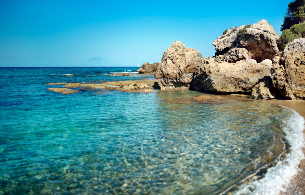 Desert bay in Kyllini Elis, western Peloponnese, Greece
