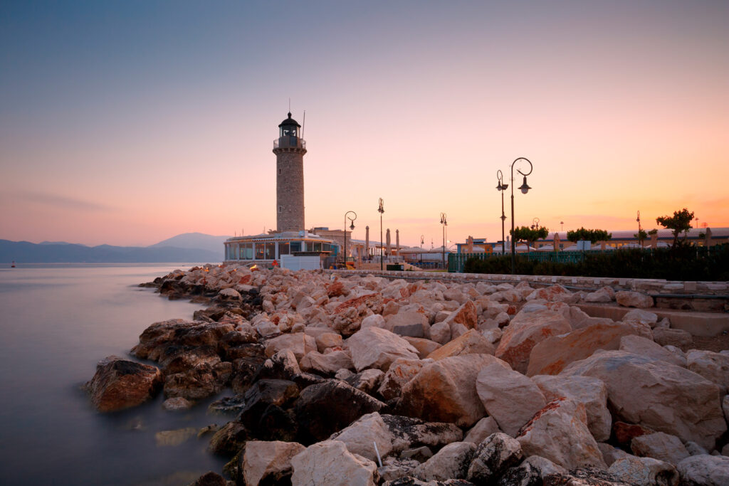 Lighthouse in Patras, Greece