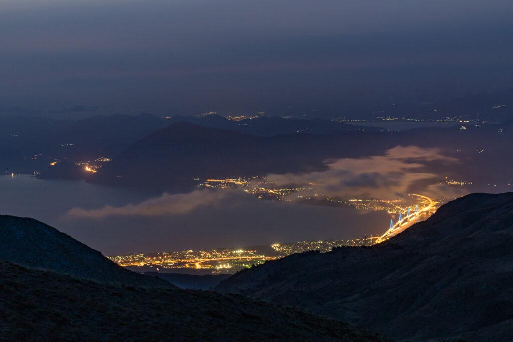 Patras and the Rio-Antirrio Bridge by night - Photo by Jason Blackeye