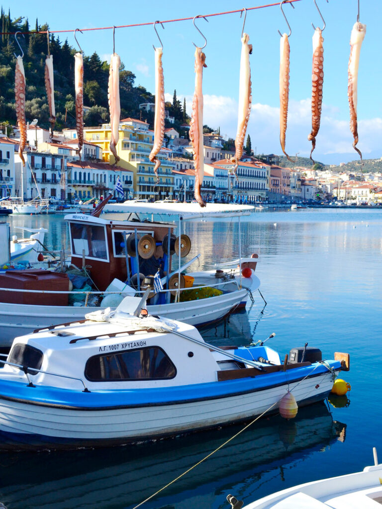 The picturesque fishing port of Gythio in Mani, southern Peloponnese Greece