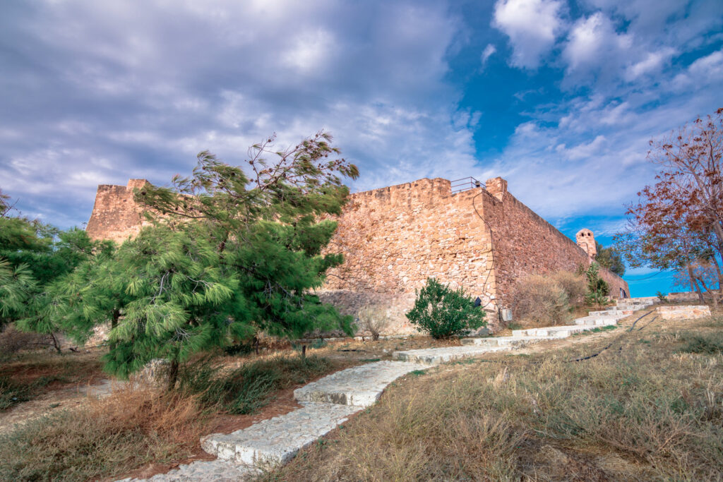 View of the historic Venetian fort of Kazarma, Sitia, Crete