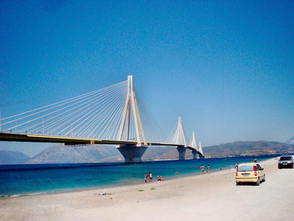 Beach next to the Rio-Antirrio bridge, Patras, Western Greece