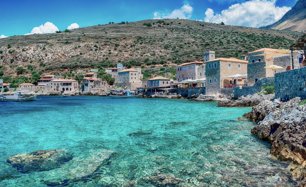 Limeni seaside village, Mani peninsula, Peloponnese Greece