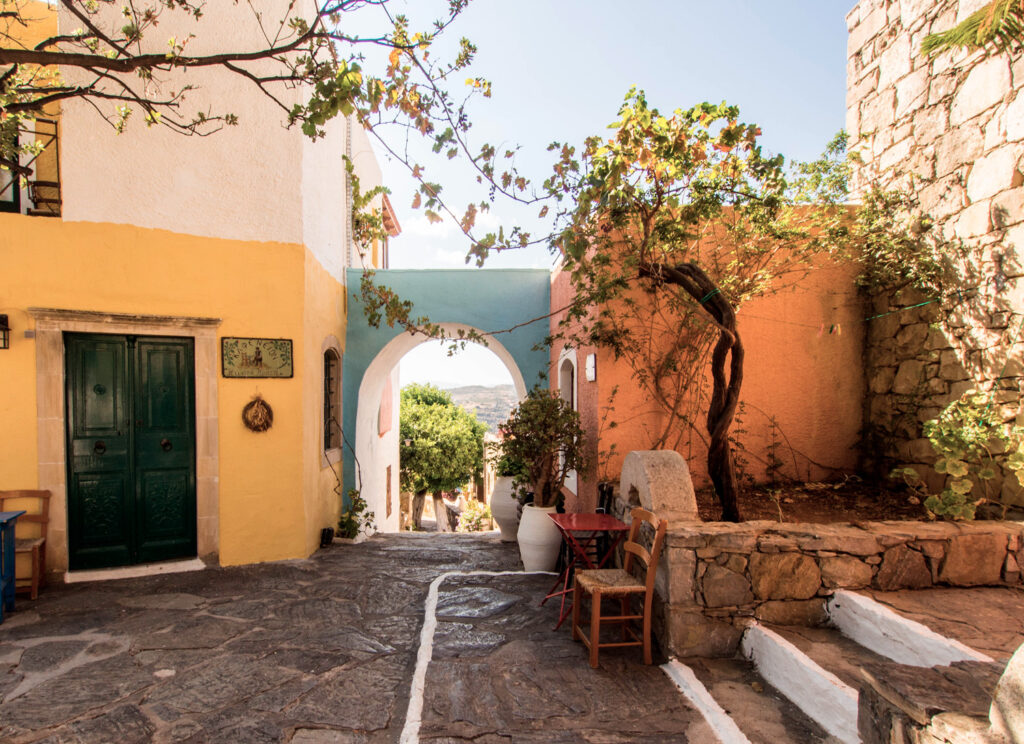 Arolithos, traditional cretan village in Crete, Greece