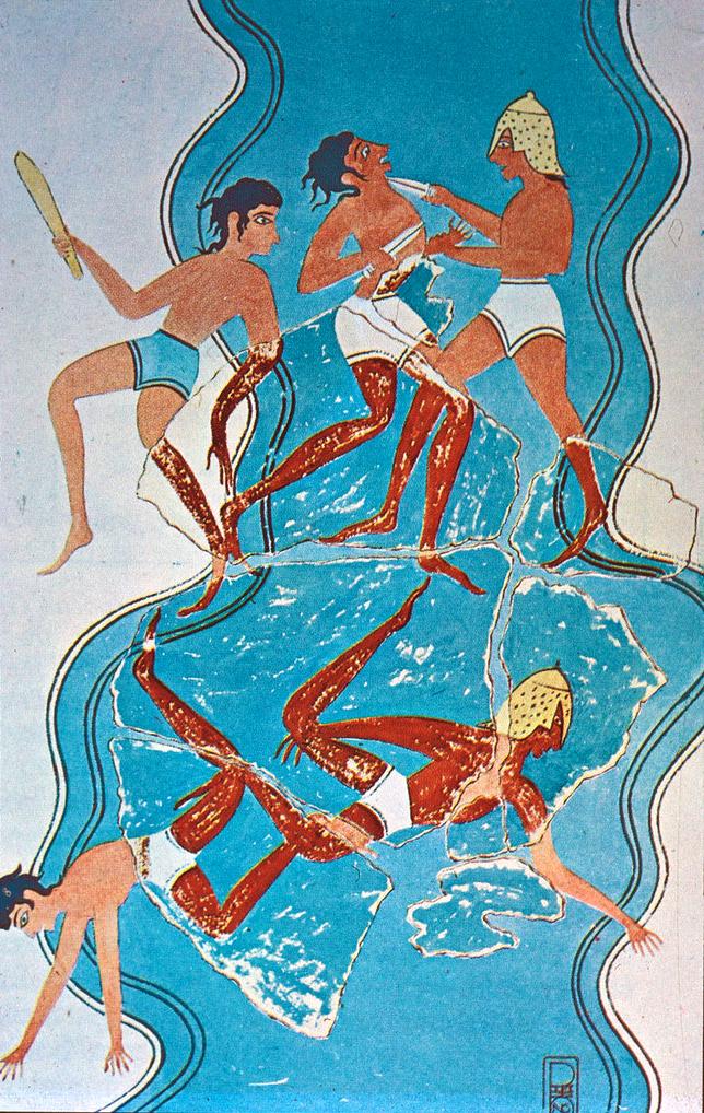 Battle Scene Fresco from Pylos, Messinia, Greece
