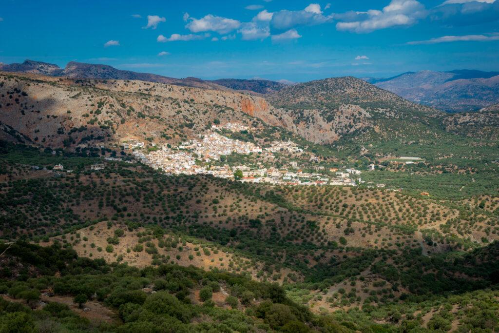 Kritsa hilltop village near Agios Nikolaos in Crete, Greece