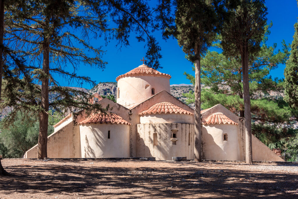 The church Panagia Kera in the village Kritsa, Crete, Greece