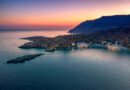 Aerial view of Loutro village in Chania region Crete, Greece