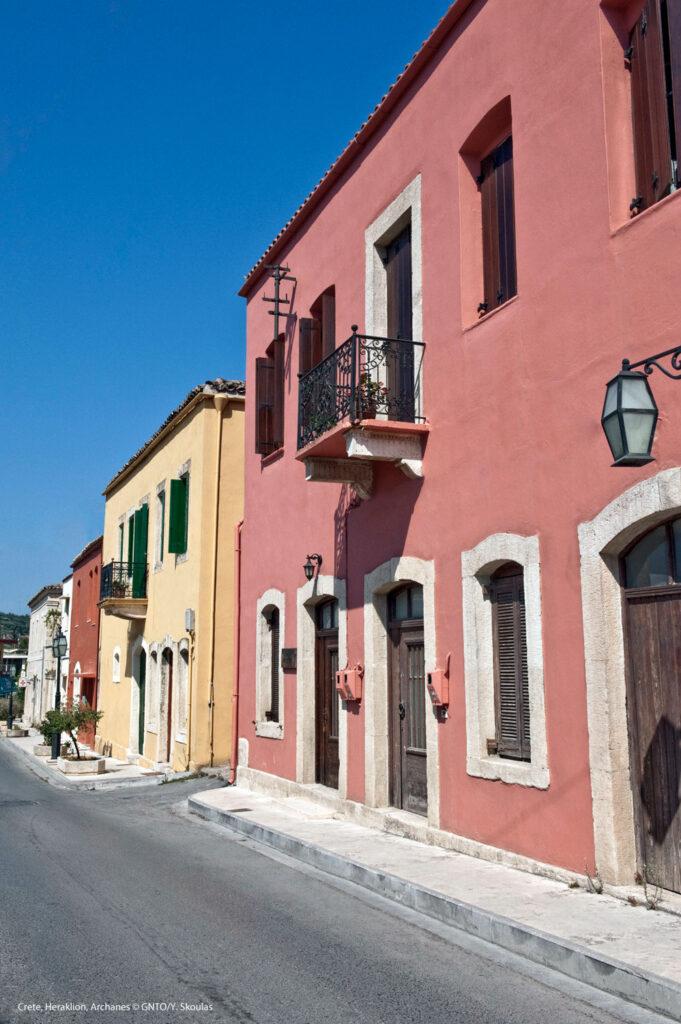 Houses in Archanes village, Heraklion region, Crete, Greece - photo by Y. Skoulas